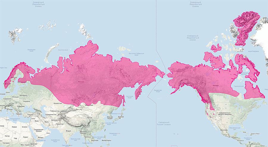 ареал обитания росомахи на картеареал обитания росомахи на карте